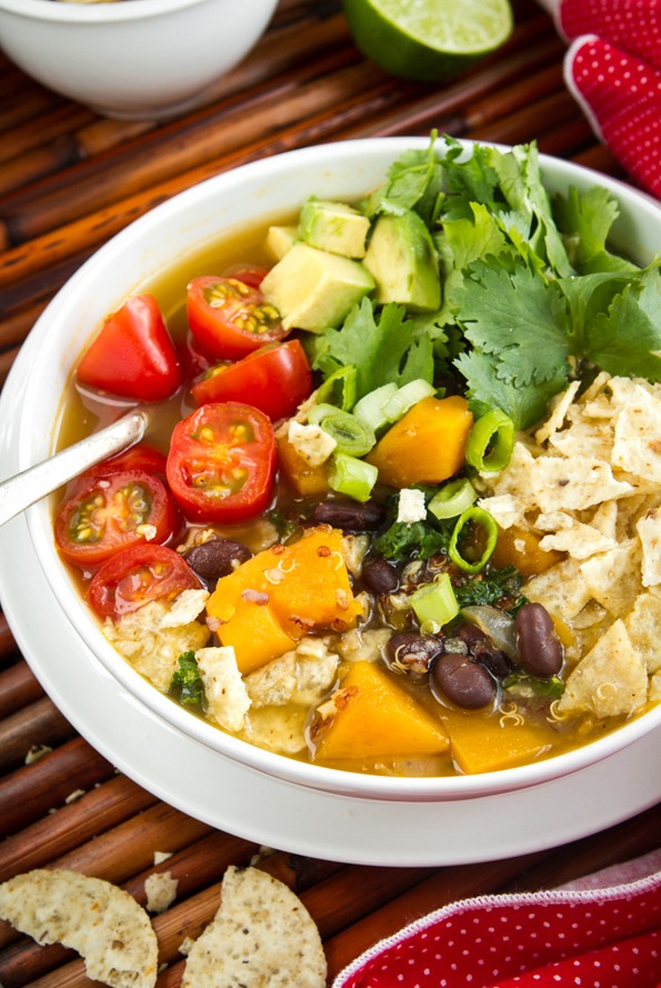 Black Bean, Sweet Potato, and Red Quinoa Soup Recipe